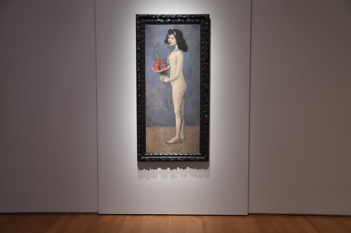 'Fillette a la corbeille fleurie' by Pablo Picasso during a Christie's preview in 2018.