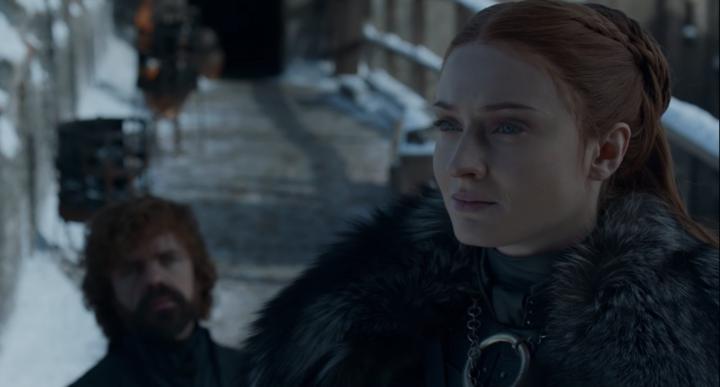 Sansa spilling the tea.