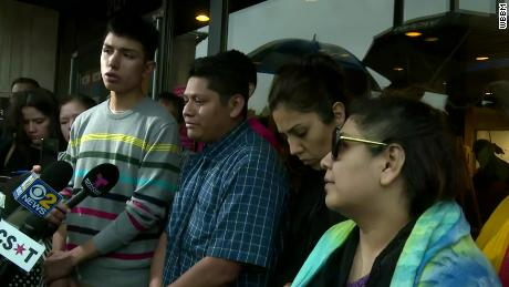 Marlen Ochoa-Lopez's family speaks to the media Thursday.
