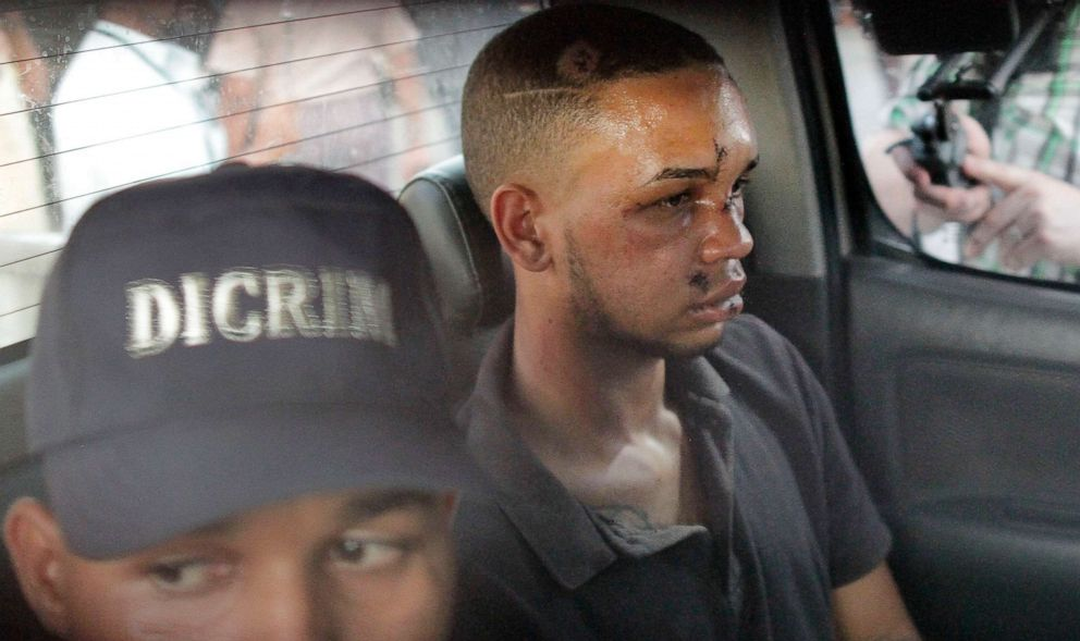 PHOTO: Eddy Vladimir Feliz Garcia, in custody in connection with the shooting of former Boston Red Sox slugger David Ortiz, is transferred by police to court in Santo Domingo, Dominican Republic, June 11, 2019.