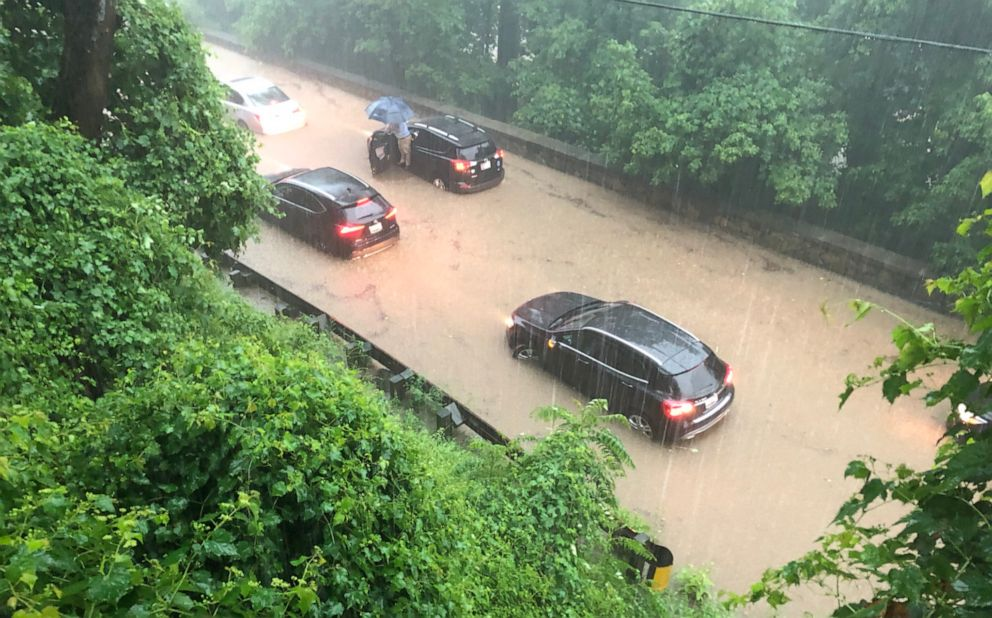 PHOTO: Numerous vehicles are submerged on Canal Road near Fletchers Cove.