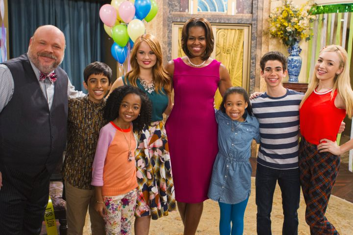 """Former first lady Michelle Obama also met Boyce on the set of """"Jessie."""""""