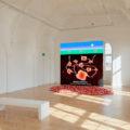 """Installation view of """"Wong Ping: Heart Digger,"""" 2019, at Camden Arts Centre, London.a"""