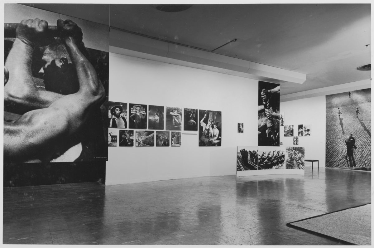 Installation view of 'The Family of Man' at MoMA.