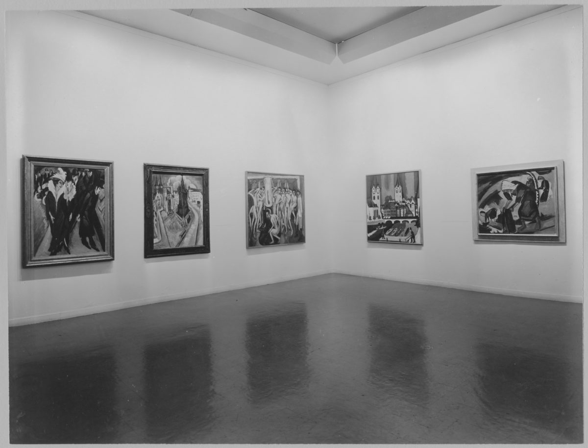 Installation view of 'German Art of the Twentieth Century' at MoMA.