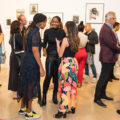 The opening of 'In The Absence of Light: Gesture, Humor and Resistance in The Black Aesthetic' at Stony Island Arts Bank in Chicago.