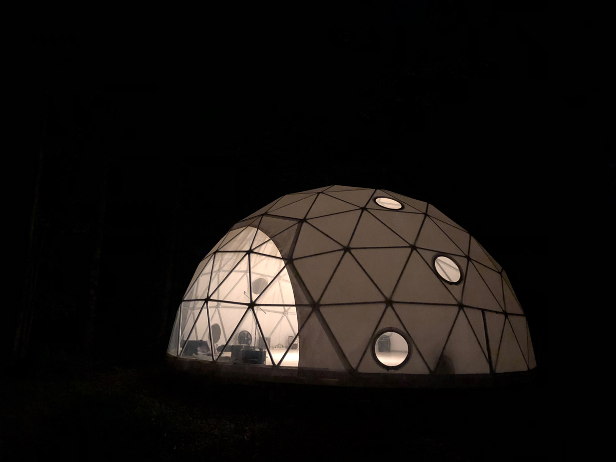 A geodesic dome is at the center of the programming at Activation.