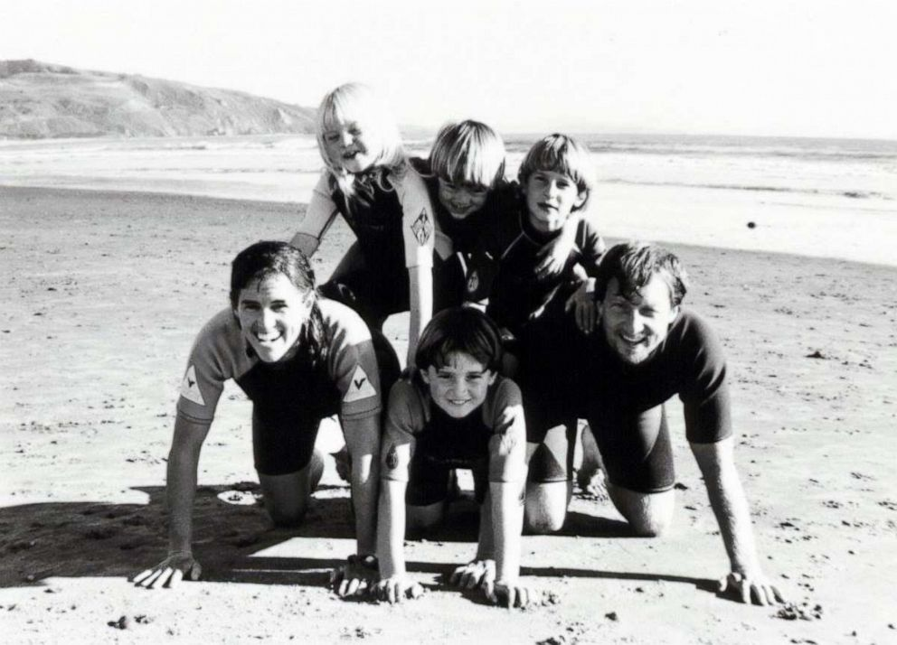 PHOTO: Tom Steyer and his wife Katherine Taylor with their four children in an undated photo.