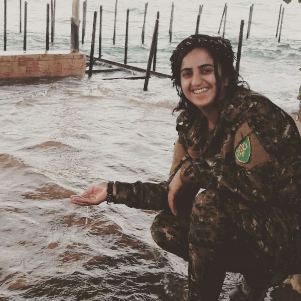 PHOTO: Sozdar Bawer team helped defeat ISIS in Raqqa -- street to street, building to building while death was always a step away. More than 11,000 Kurdish men and women died in the war. Bawer was one of them.