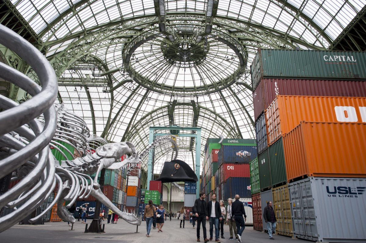 """Huang Yong Ping's """"Monumenta"""" commission at the Grand Palais in Paris in 2016."""