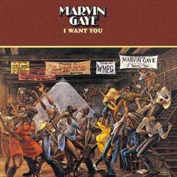 Ernie Barnes Sugar Shack as Marvin Gaye I Want You album cover