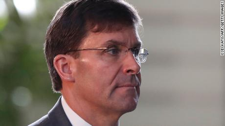 US Secretary of Defence Mark Esper is seen in August during a visit to Tokyo.