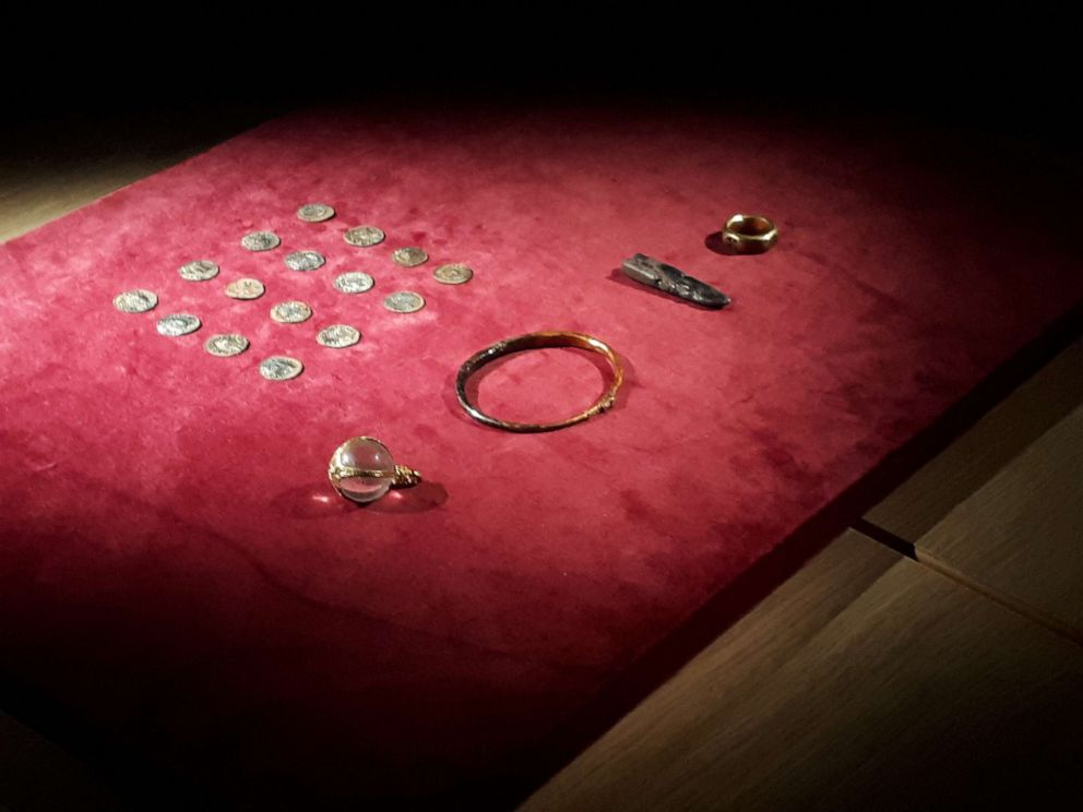 PHOTO:The missing hoard included Anglo-Saxon coins, jewelry and silver ingots is seen here in this undated file photo.