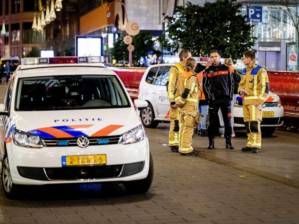 PHOTO: Police in the Grote Marktstraat in The Hague, Netherlands, Nov. 29, 2019.