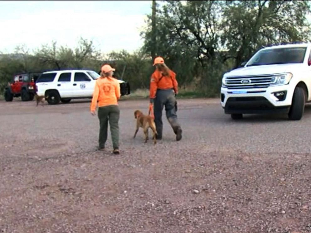 PHOTO: Authorities search for a missing 6-year-old girl in Tonto Basin, Ariz., Dec. 4, 2019.