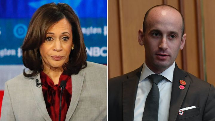 Sen. Kamala Harris (D-Calif.), and White House Senior Adviser Stephen Miller.