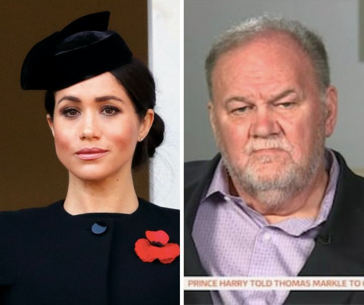 Meghan and her father, Thomas Markle.