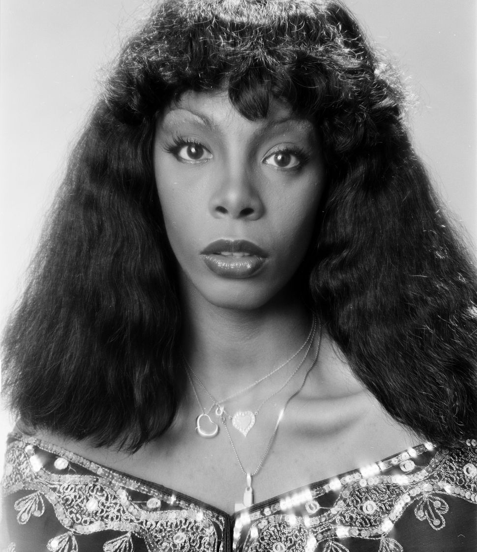 Donna Summer photographed in 1976 just after her hit 'Love to Love You Baby' became a platinum single.