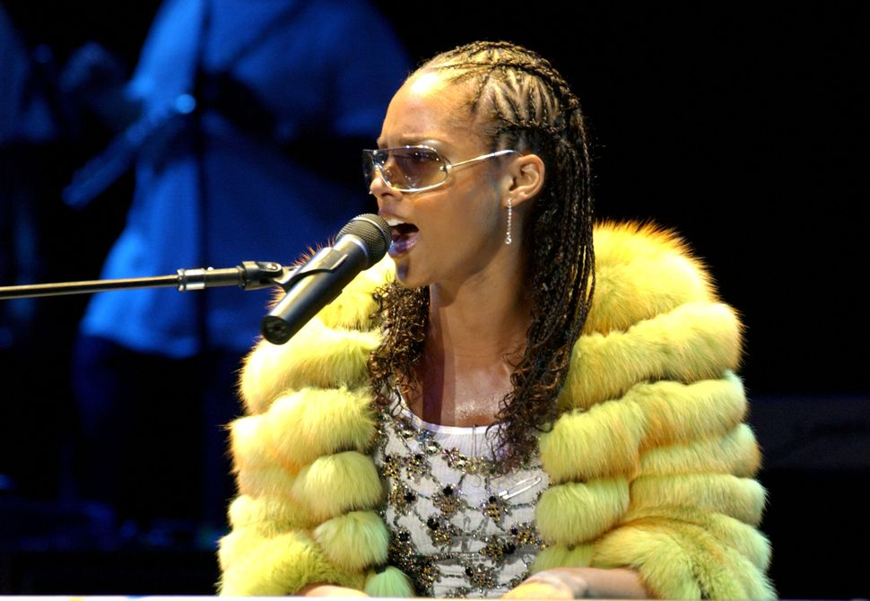 Alicia Keys during Alicia Keys In Concert At the Greek Theater at Greek Theater in Los Angeles, California, United States.&nb