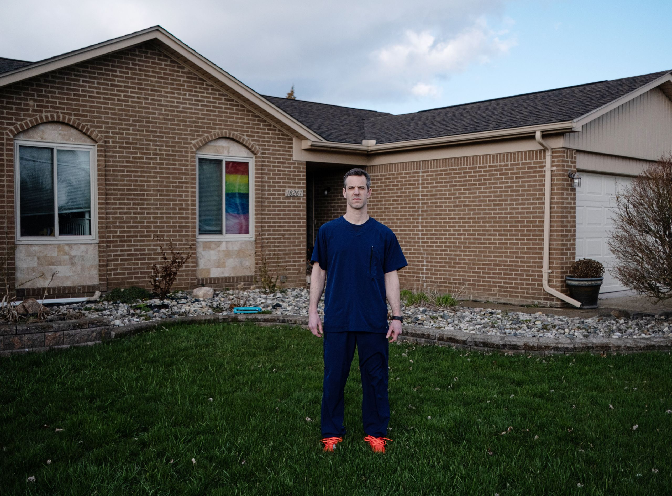 Chris Wasen, here at his Macomb home, was an orthopedic surgery nurse at Beaumont Hospital in metropolitan Detroit before his