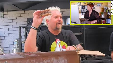 """Guy Fieri appears on a special take-out episode of """"Diners, Drive-Ins and Dives."""""""