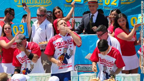 Gamblers can (legally) bet on the Nathan's Famous Hot Dog Eating Contest for the first time in the July Fourth event's history