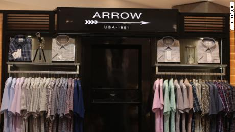 Arrow is menswear brand owned by PVH Corp.