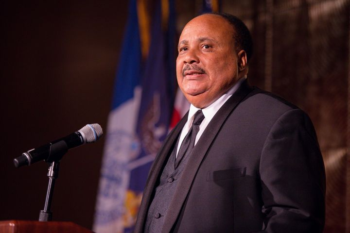 """""""We have to still continue to work through to rid our society of racism,"""" saidMartin Luther King III."""