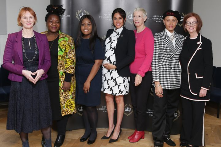 Journalist Anne McElvoy, Camfed Regional Director Zimbabwe's Angeline Murimirwa, British campaigner Chrisann Jarrett, the Duc