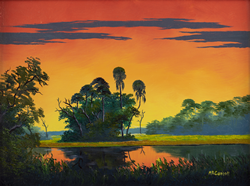 A painting by Mary Ann Carroll of the Florida Highwaymen.