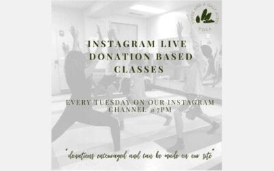 INSTAGRAM LIVE DONATIONS BASED CLASSES