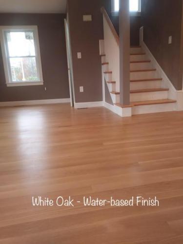 Water-based polyurethane on White Oak