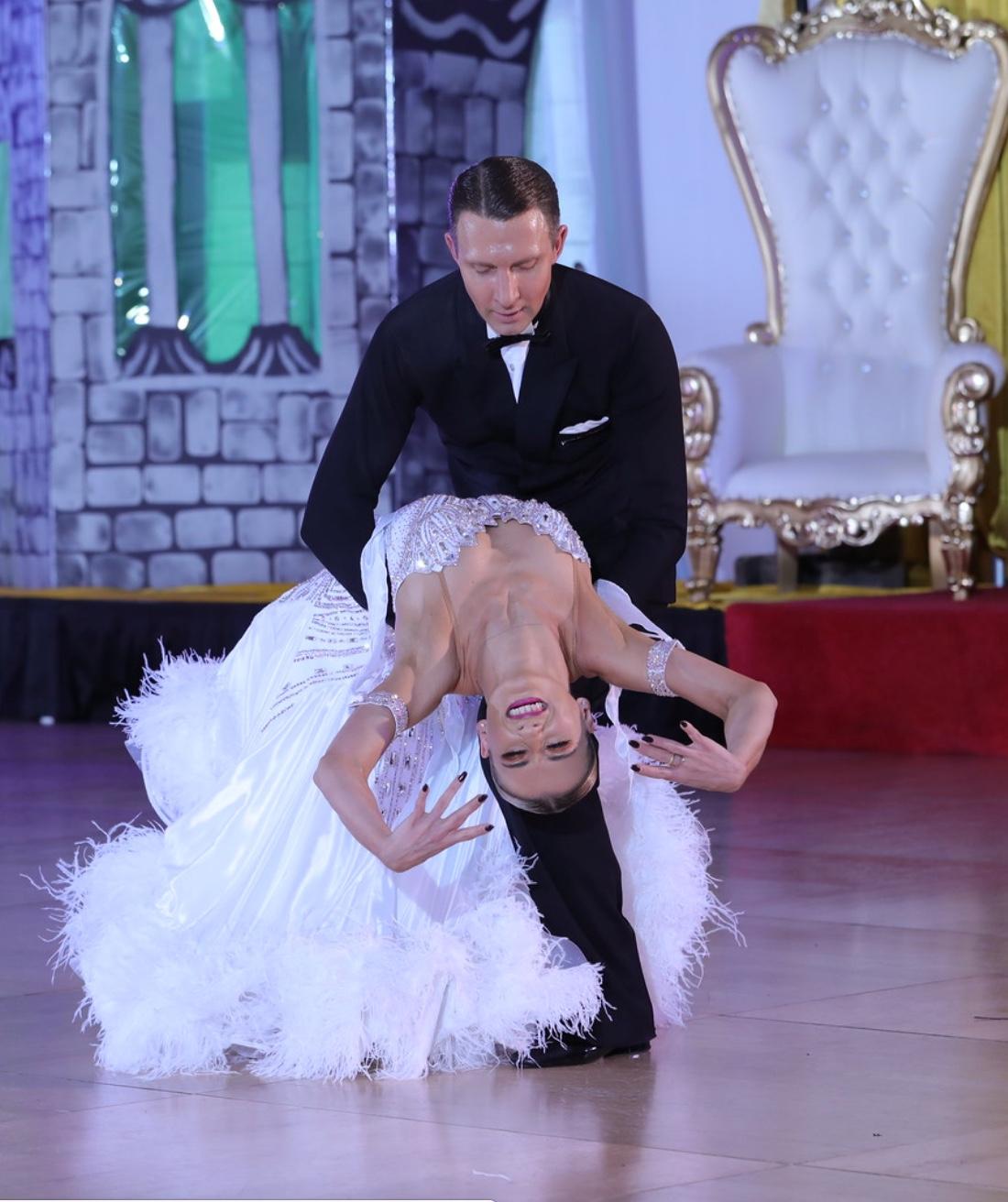 Arunas & Katusha ballroom dance champions at Music City Invitational