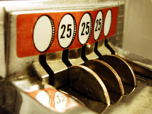 coin in the slot
