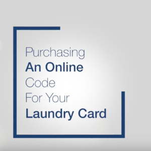 Purchasing an On-Line Code for your Laundry Card