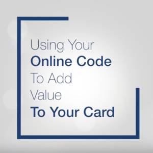 Using your On-Line Code to Add Value to your Laundry Card at a Code Box