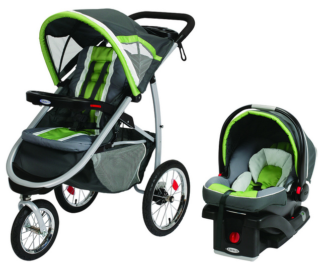 Graco FastAction Click Connect Jogging Travel System