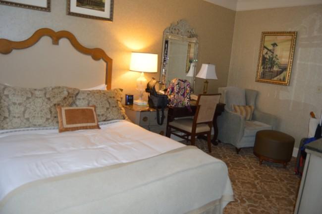 Queen bed at Hotel Hershey