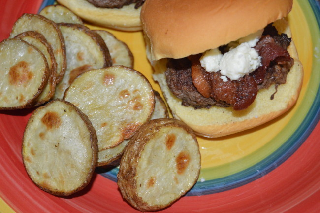 Bacon Blue Cheese Burger Sliders (3)