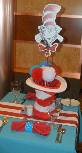 Cat in the Hat Breakfast Carnival Pride table setting