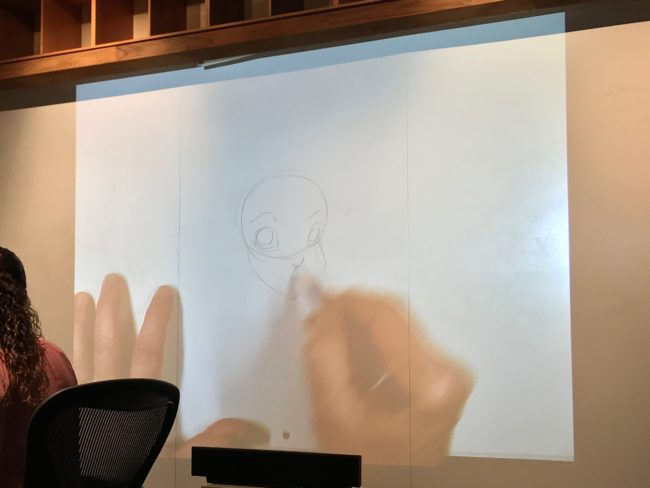 Mark Henn drawing Ariel - #RalphBreakstheInternetEvent