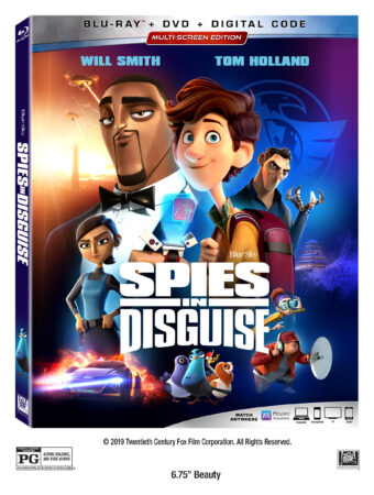 Spies in Disguise DVD Case