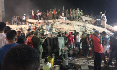 Trabajos de rescate y remoción de escombros