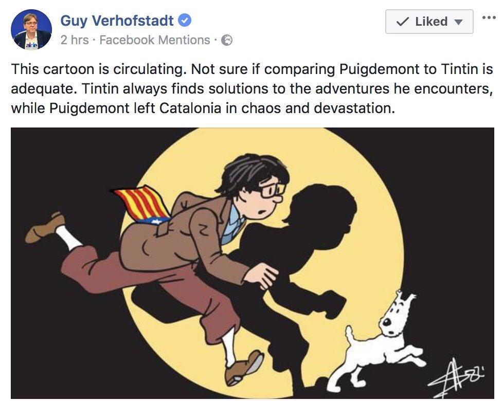 Tintin y Puigdemont