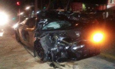 La foto del accidente circuló en res sociales
