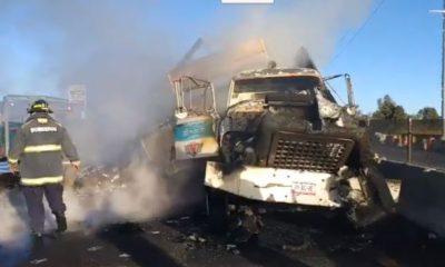 Accidente en la México Puebla