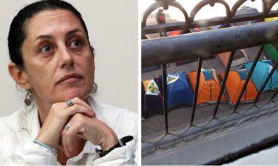 Bloquean oficinas de la delegada Claudia Sheinbaum