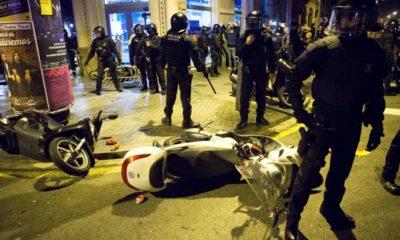 Protestas por llegada del Rey a Cataluña