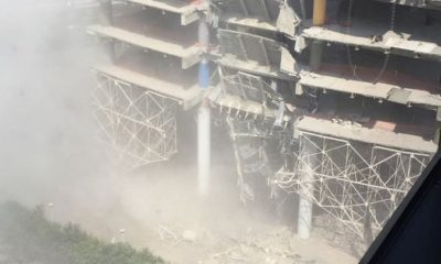 Se derrumba edificio en Polanco. Foto: Twitter