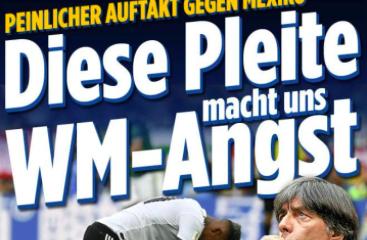 Prensa alemana condena a su selección